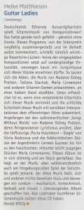 Wonderful review for my CD in the Akustik Gitarre 1/17 by Harald Wittig.